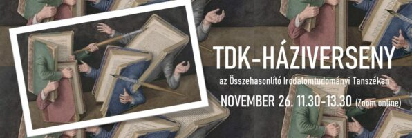 TDK-háziverseny az Összehasonlító Irodalomtudományi Tanszéken